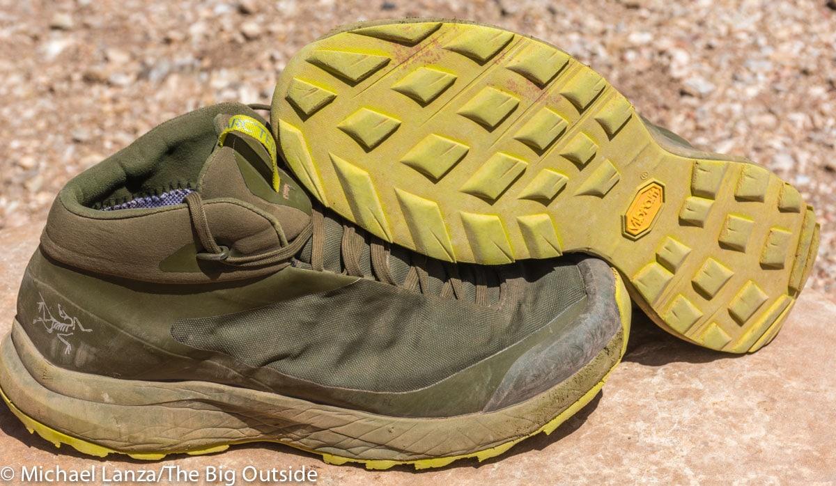 Arc'teryx Aerios FL Mid GTX hiking shoes.