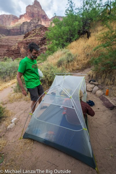 Big Agnes Tiger Wall 2 Platinum without rainfly.