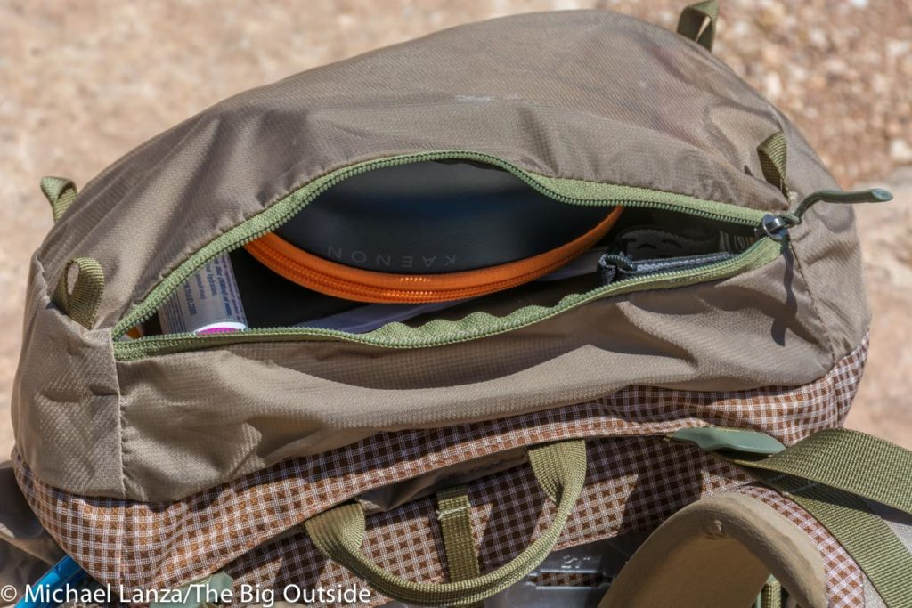 Granite Gear Bla.ze 60 lid pocket