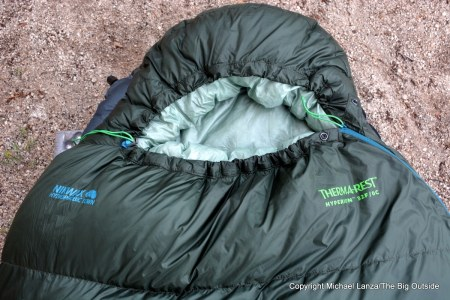 Therm-a-Rest Hyperion 32F/0C sleeping bag.