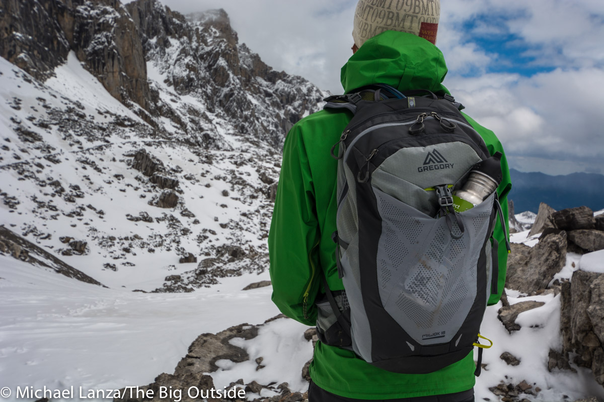 The Gregory Miwok 18 daypack.