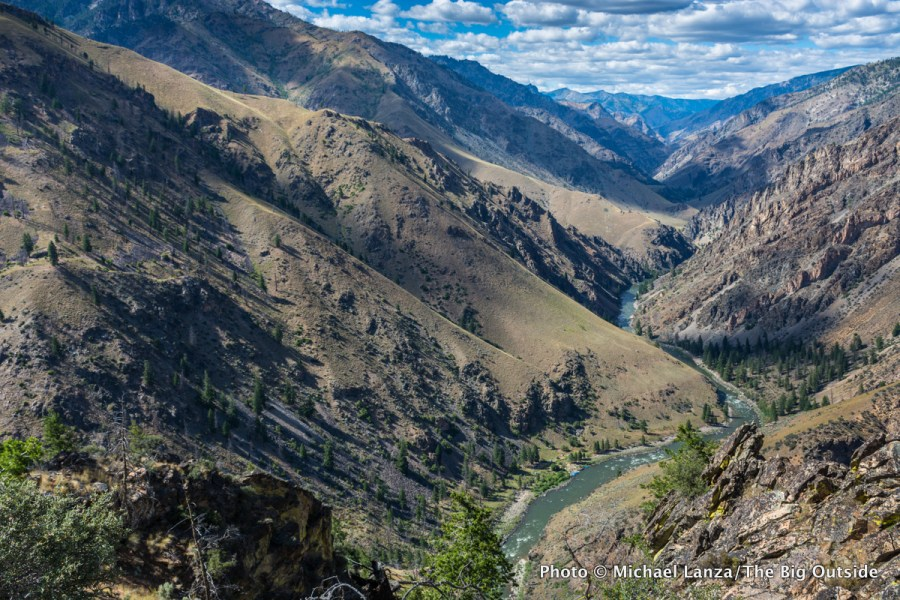 The view from Johnson Point, above the Middle Fork Salmon River in Idaho's Frank Church-River of No Return Wilderness.