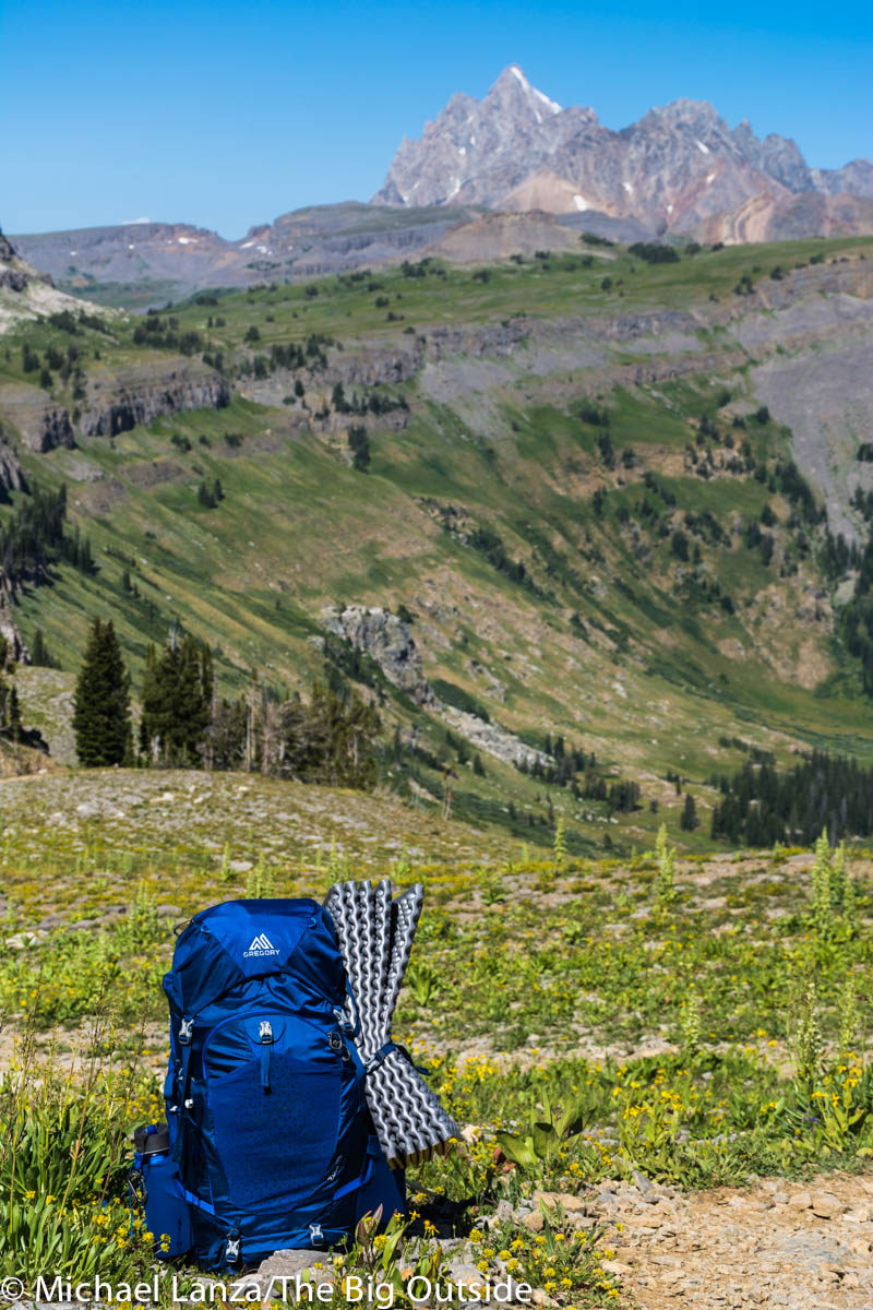 The Gregory Zulu 55 on the Teton Crest Trail.