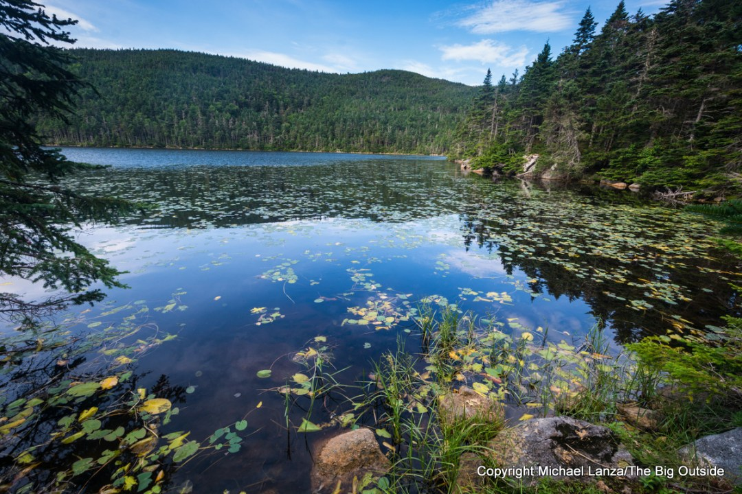 Speck Pond, along the Appalachian Trail in Maine's Mahoosuc Range.