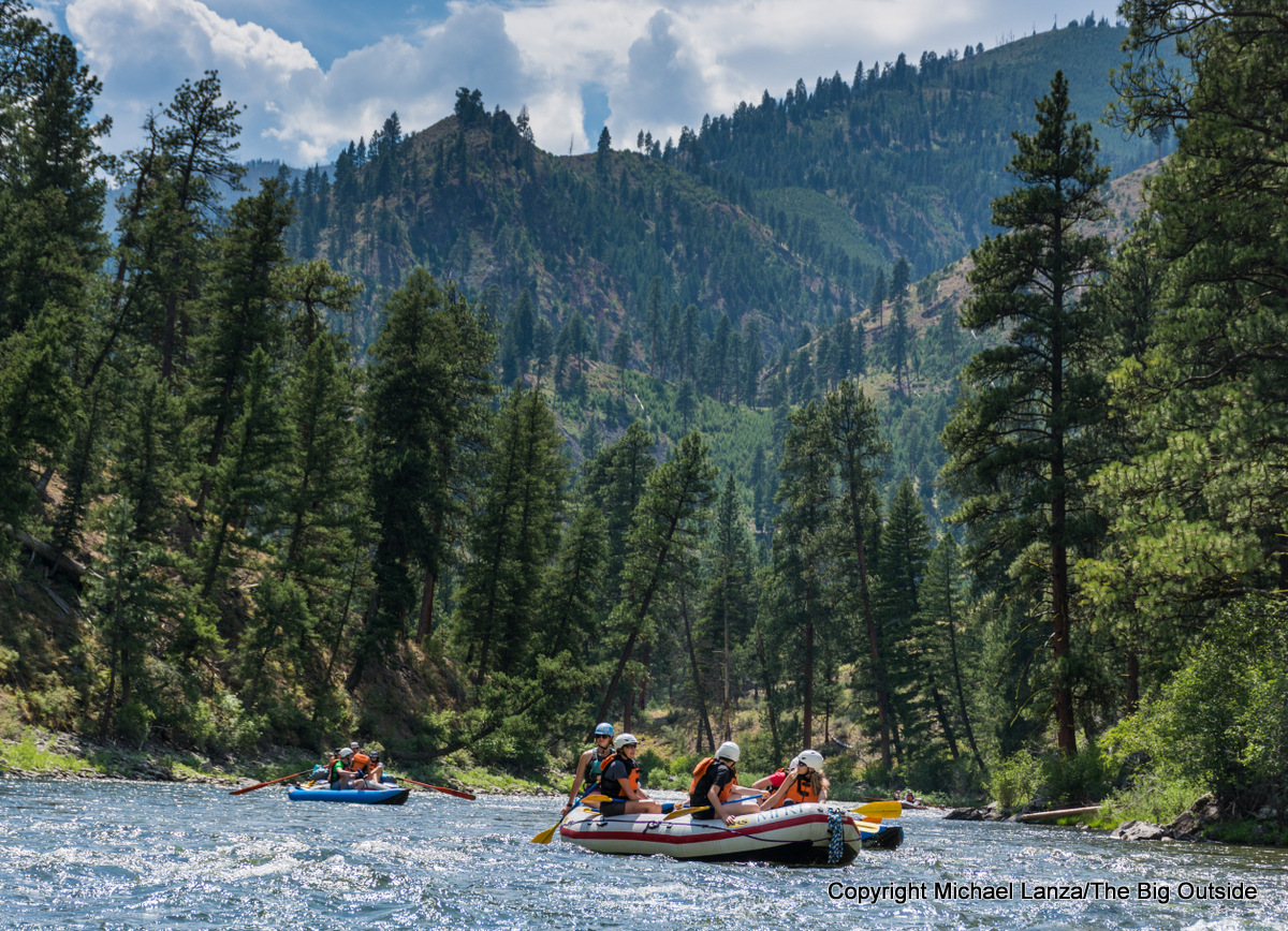 Boaters floating Idaho's Middle Fork Salmon River.