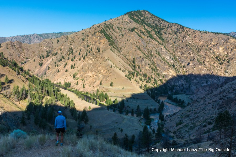Hiking above Camas Creek on Idaho's Middle Fork Salmon River.