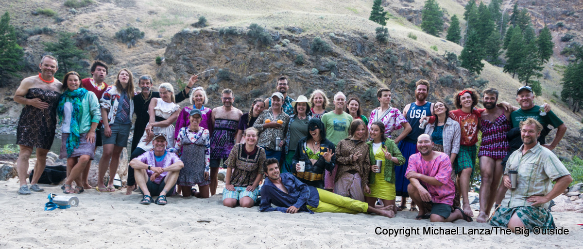 Costume night with MFRT on the Middle Fork Salmon River.