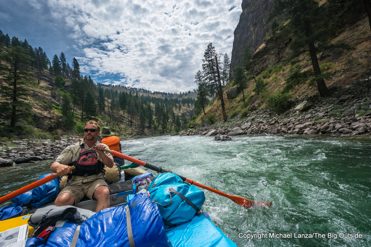 Rafters on the Middle Fork Salmon River, Idaho.