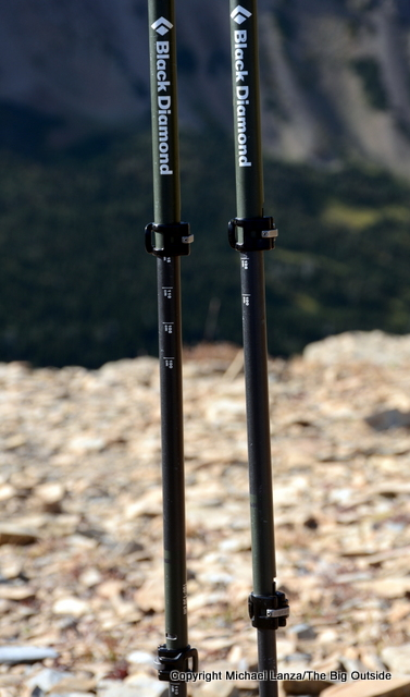 Black Diamond Alpine Carbon Cork trekking poles.