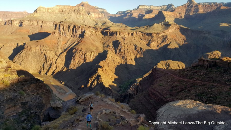 Runners on the South Kaibab Trail in the Grand Canyon.