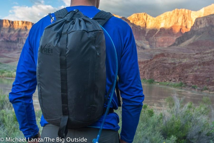 The REI Flash 18 ultralight daypack.