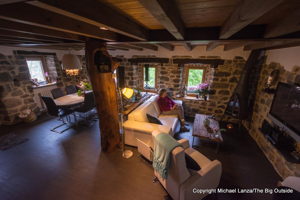 Inside the Casa Maru B&B in Camarmeña, Spain, on the edge of Picos de Europa National Park.