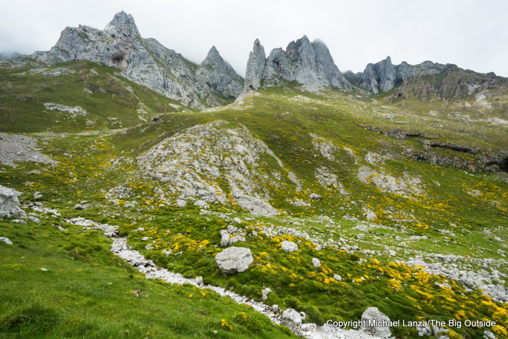 The valley above Sotres, Picos de Europa National Park, Spain.