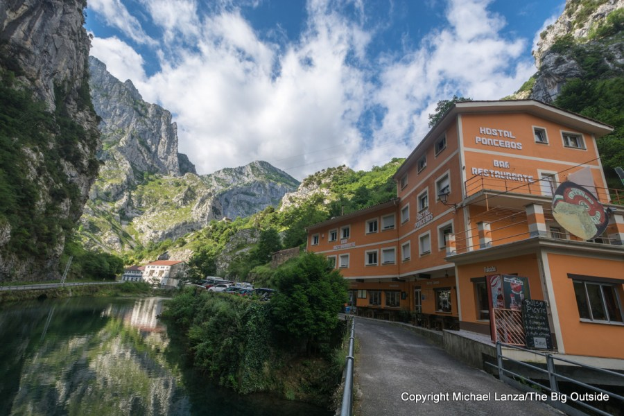 The Hostal Poncebos, in Poncebos, Spain, on the edge of Picos de Europa National Park.