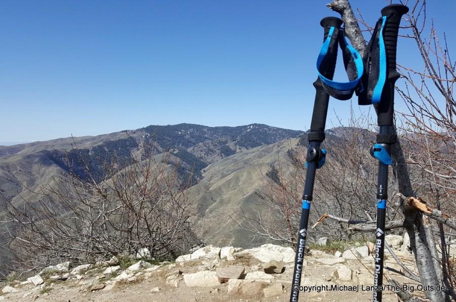 Black Diamond Distance Carbon FLZ trekking and running poles.