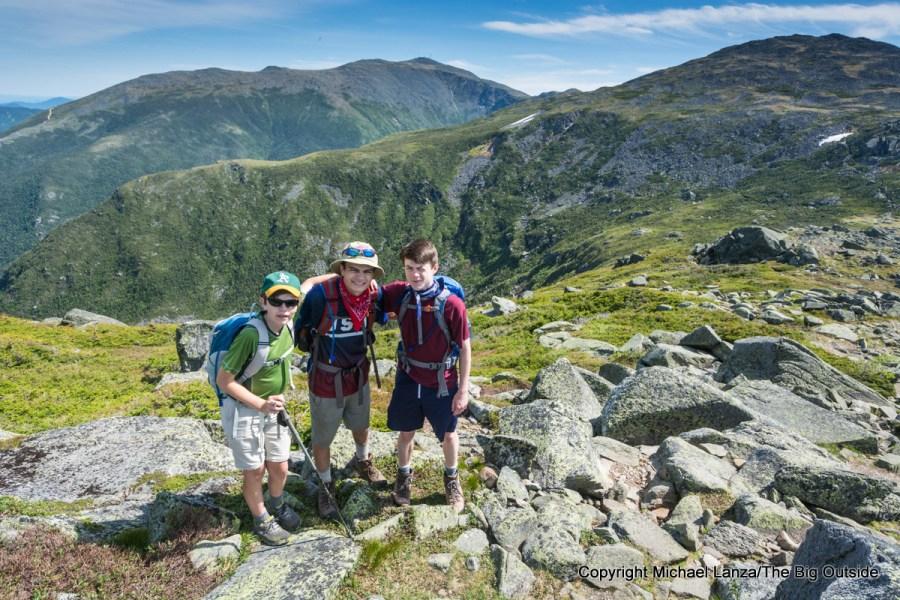 Three teenage boys on a 17-mile dayhike in the Presidential Range, N.H.