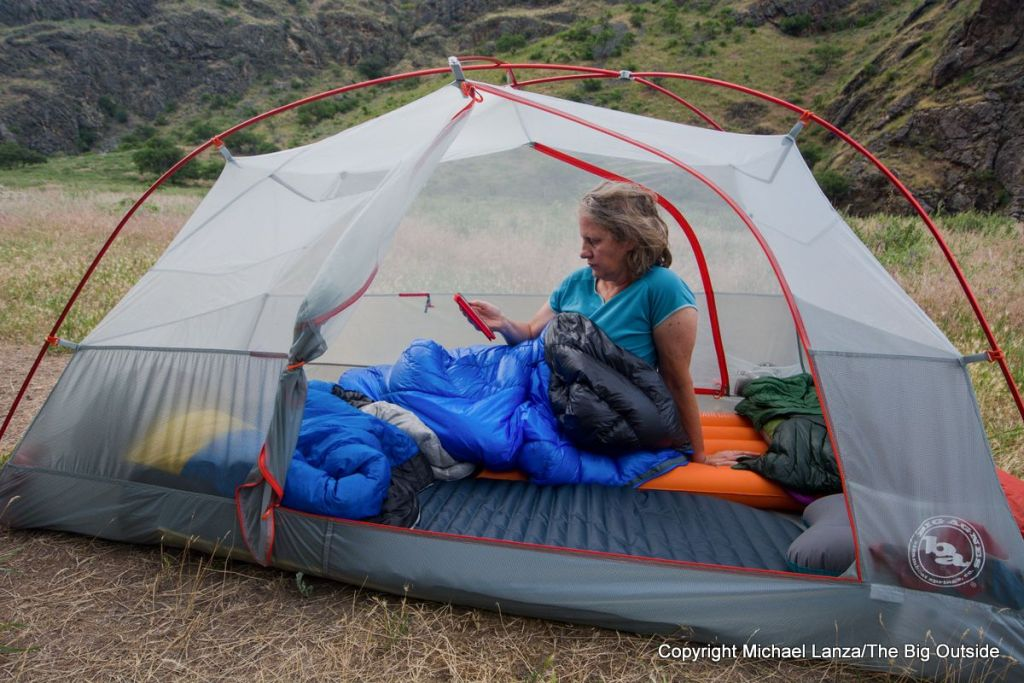 Big Agnes Copper Spur HV UL2 interior.