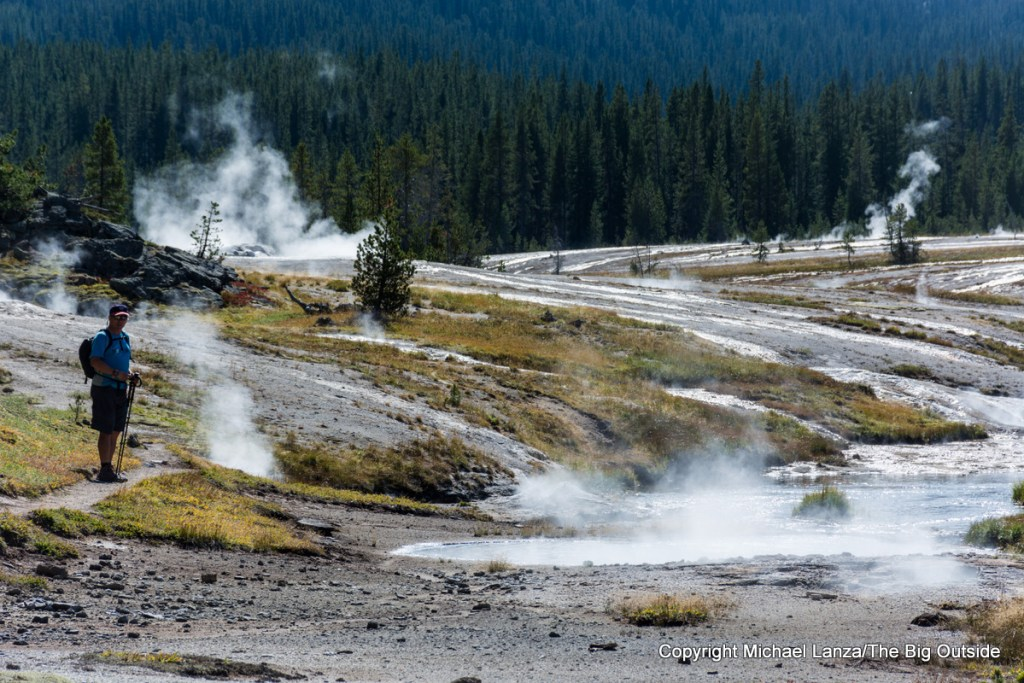The Shoshone Geyser Basin in Yellowstone National Park.