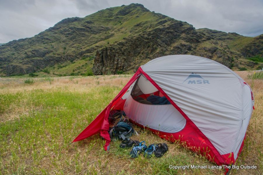 The MSR Hubba Hubba NX 2-person tent in Hells Canyon.