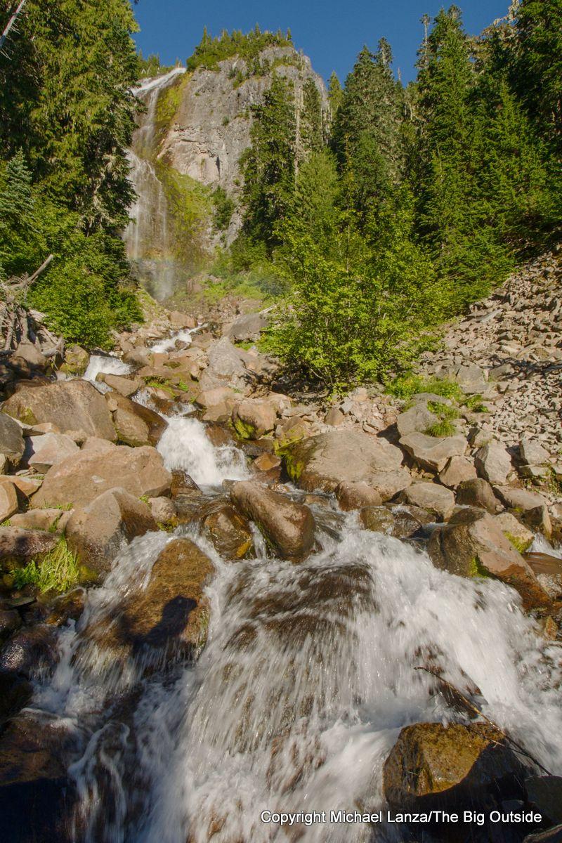 Spray Falls, just off the Spray Park Trail, Mount Rainier National Park.