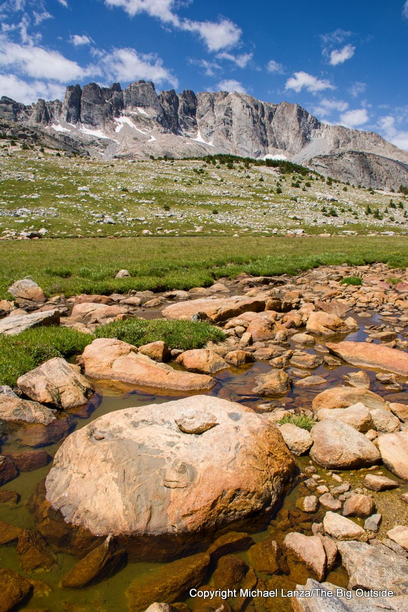A creek north of Photo Pass on the Wind River High Route.
