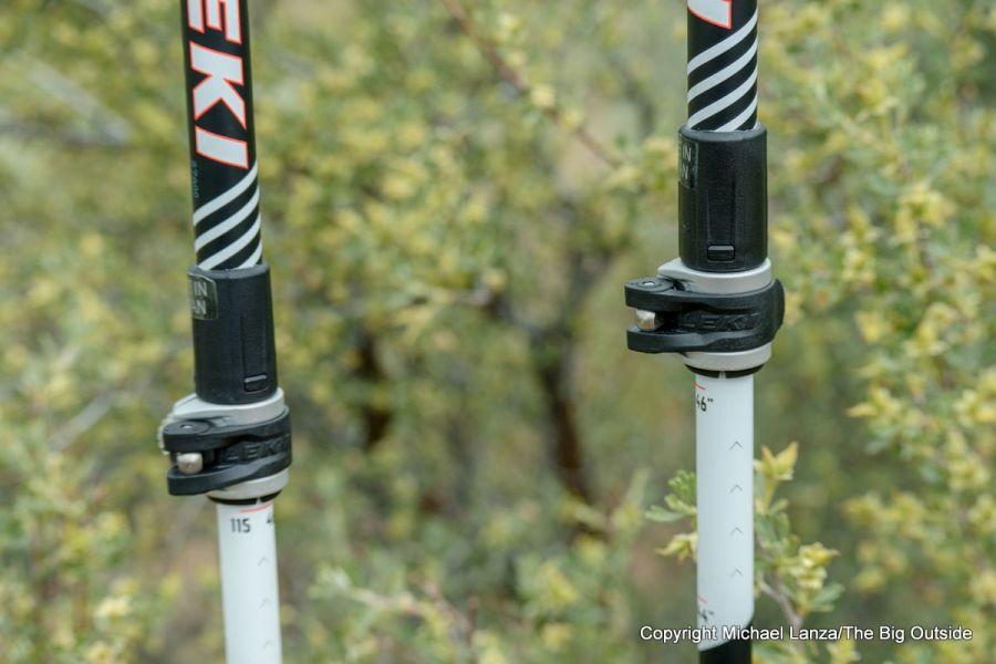 Leki MC 12 Vario poles Core Locking Device (CLD).