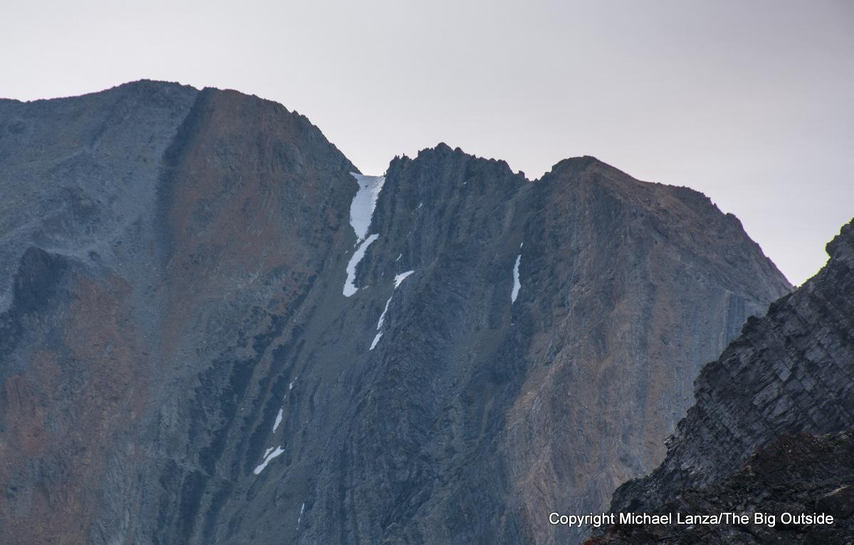 A view from below of Chickenout Ridge on Idaho's 12,662-foot Borah Peak.