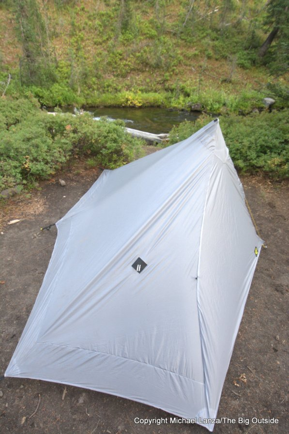 The Six Moon Designs Lunar Solo tent rainfly.
