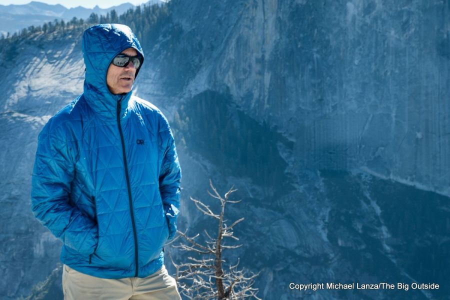 The Outdoor Research Helium Insulated Hoodie in Yosemite National Park.