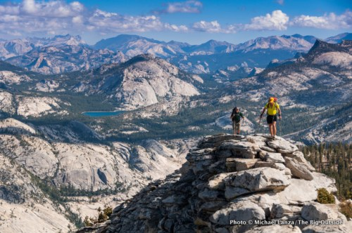 Backpackers on Clouds Rest in Yosemite National Park.