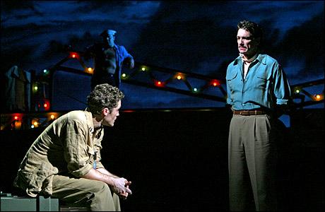 Paulo Szot (Emile de Becque) and Andrew Samonsky (Lt. Joseph Cable)