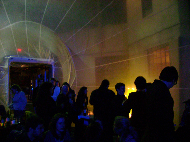 Inside the Spacebuster after dark