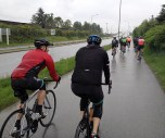 The further east we ride, the wetter it gets.