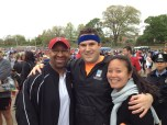 Mayor Nutter, Me and Jess before the race