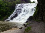 A closer view of the waterfall
