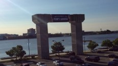 Welcome to Penn's Landing sign