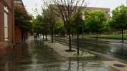 Began my run in the rain.