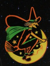 Beistle Witch and Moon