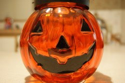 Glass Pumpkin Candle Holder (TJ Maxx)