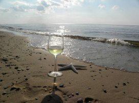 Copa en la playa