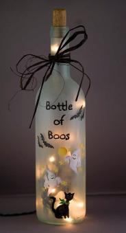 Adorno con botella reciclada