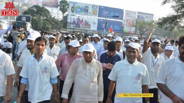 Patna University VC Ras Bihari Singh Joined the Marathon   The Bihar News