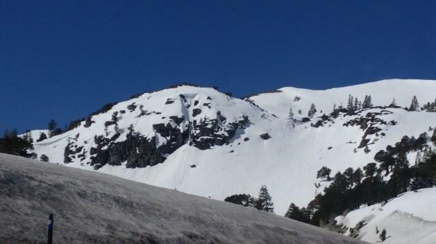 Crossing the mountains near Lake Tahoe