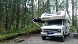 Janie in a Canadian campsite