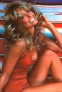Farah Fawcett's red swim wear suit poster Swimwear Fashion Trends