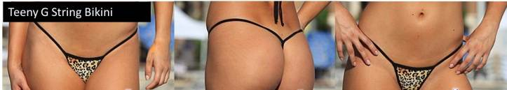 Teeny G String Bikini Different Types of Thong Bikinis