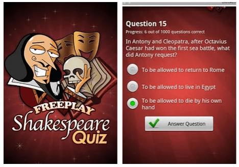 FreePlay Shakespeare Quiz by Handyx