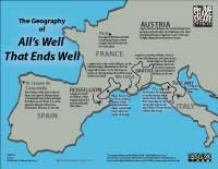 The Geography of All's Well That Ends Well (available for purchase at Teachers Pay Teachers; click for watermarked jpg)