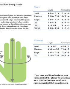 also glove sizing chart rh thebionicstore