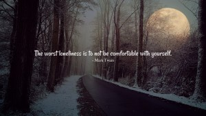 The Worst Loneliness- life quote by Mark Twain